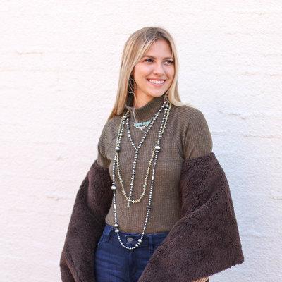 Punchy's Olive Waffle Knit Bodysuit