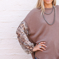 Punchy's Snake Skin Waffle Knit Top