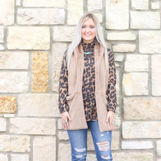 Punchy's Taupe Faux Fur Sleeveless Coat