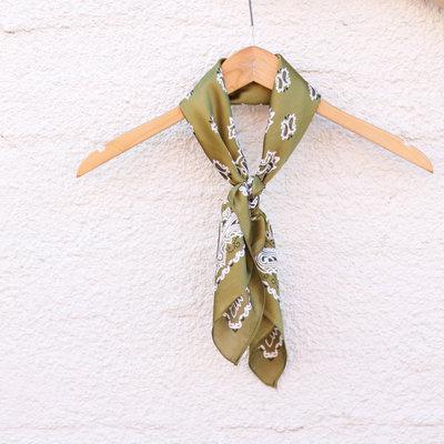 Punchy's Silky Cactus Green Traditional Bandana Wildrag