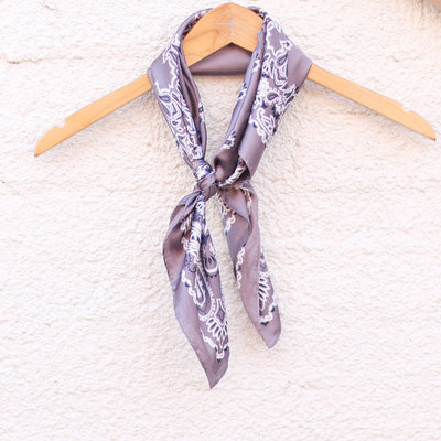 Punchy's Silky Grey Traditional Bandana Wildrag