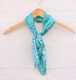 Punchy's Silky Turquoise Traditional Bandana Wildrag