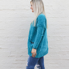 Punchy's Teal Long Sleeve Cardigan