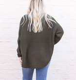 Punchy's Olive Rounded Bottom Sweater