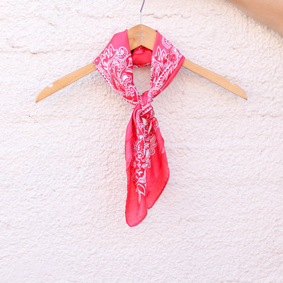 Punchy's Silky Red Traditional Bandana Wildrag