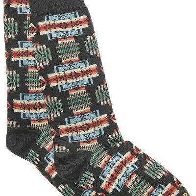 Punchy's Black Chief Joseph Crew Sock