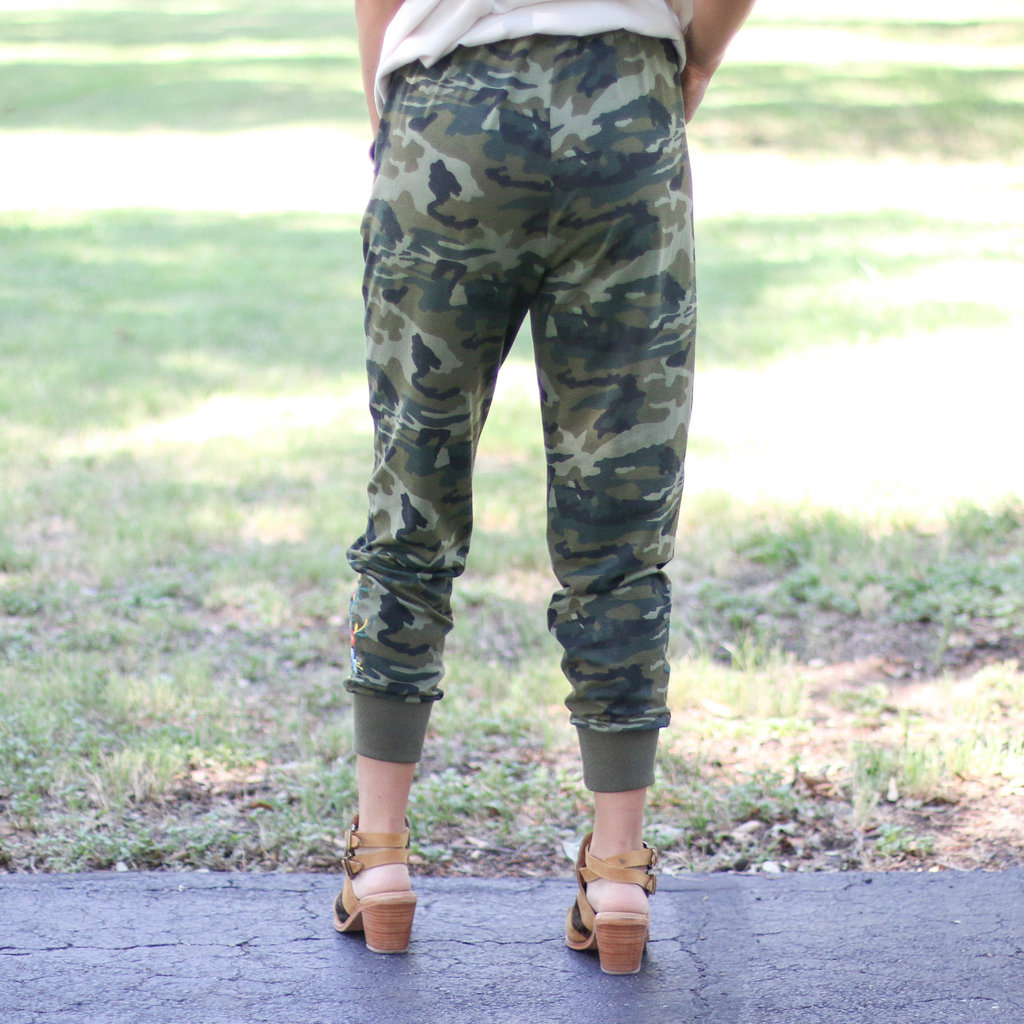 Punchy's Fiesta Embroidered Camo Joggers
