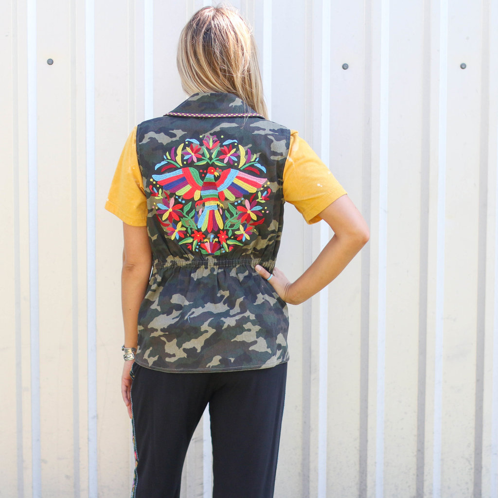 Punchy's Camo Embroidered Vest