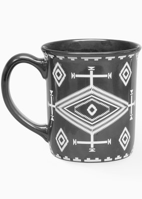 Punchy's Black Los Ojos Ceramic Mug