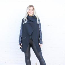 Punchy's Black Drape Front Jacket