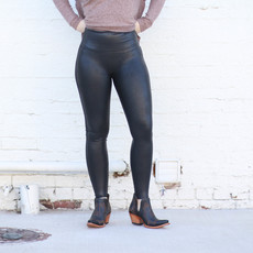 Punchy's Black Faux Leather Spanx Leggings