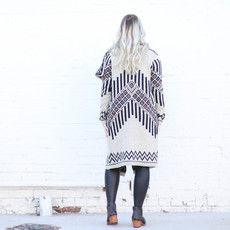 Punchy's Patterned Light Gray Duster