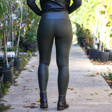 Punchy's Rich Olive Faux Leather Spanx Leggings