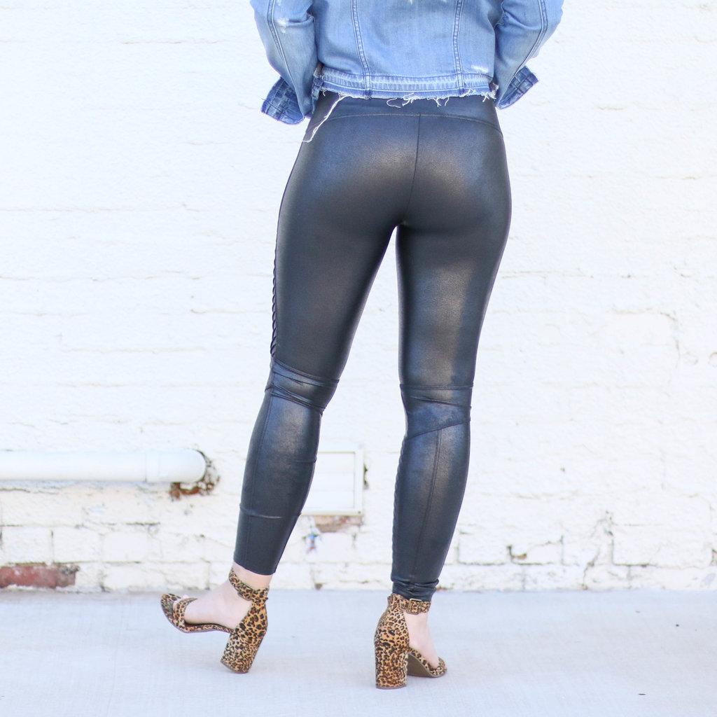 Punchy's Black Moto Spanx Leggings