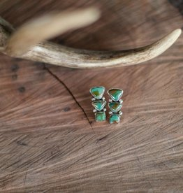 Punchy's Roysten Turquoise Three Tiered Studs