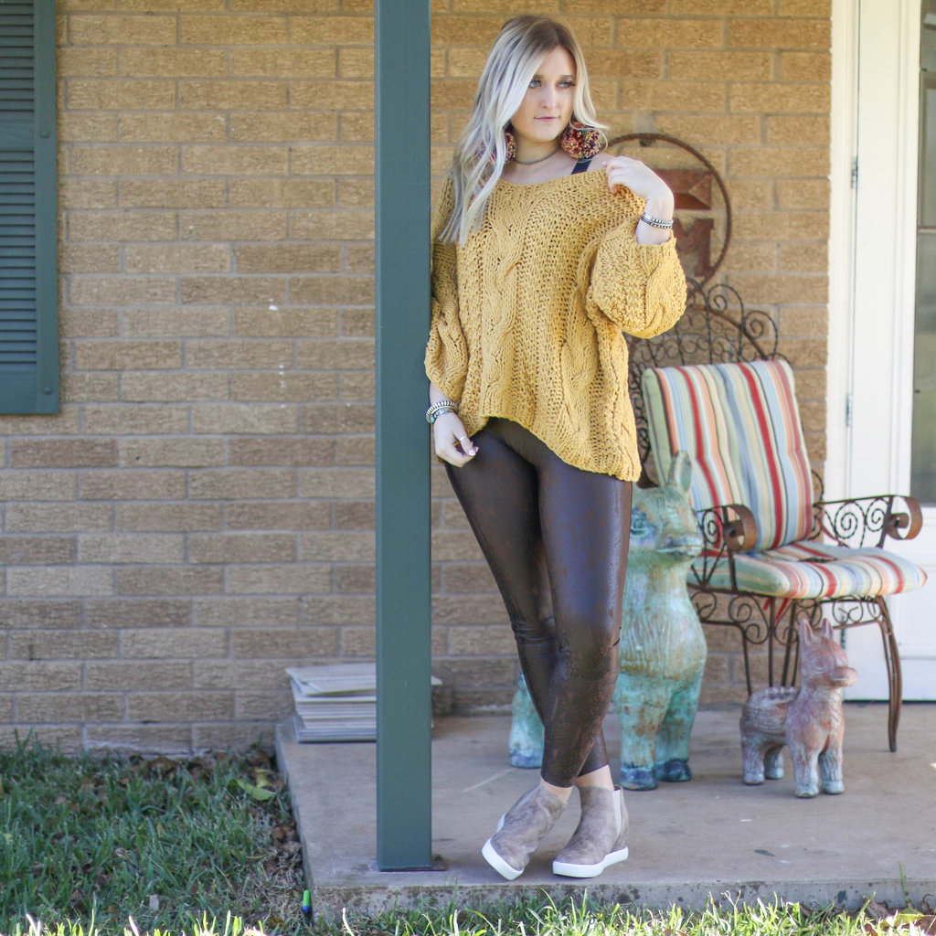 Punchy's Snakeskin Faux Leather Spanx Legging