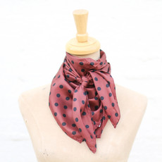 Punchy's Wine with Black Polka Dots Wildrag