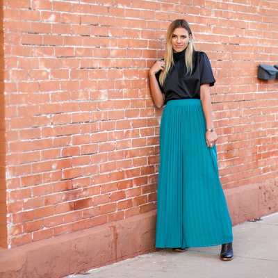 Punchy's Turquoise Pleated Pant