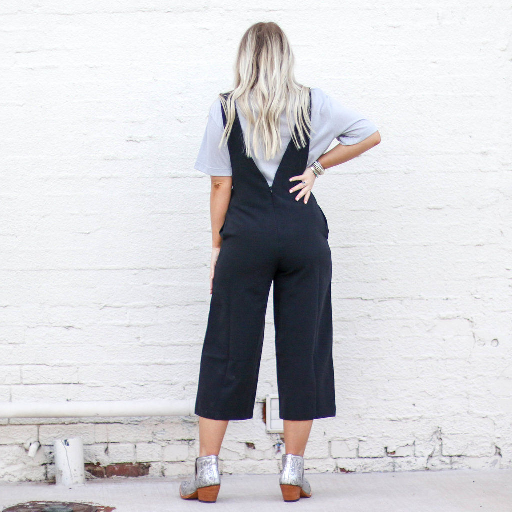 Punchy's Black Cropped Leg Jumpsuit