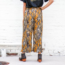 Punchy's Mustard Snake Skin Pleated Pant