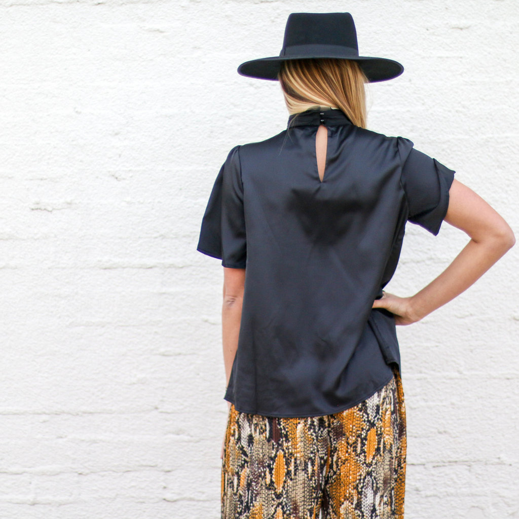 Punchy's Black High Neck Top