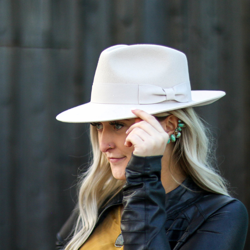 Punchy's Taupe Wool Rancher Hat