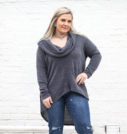 Punchy's Gray Cowl Neck Sweater