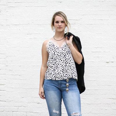 Punchy's Lace Leopard Print Cami