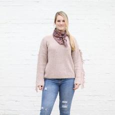 Punchy's Tan Fringe Sleeve Sweater