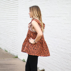 Punchy's Brown Leopard Peplum Top