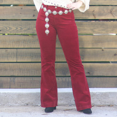 Punchy's Red Corduroy Flare Pant