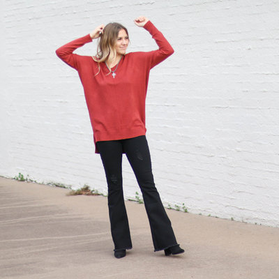 Punchy's Spice Lightweight V Neck Sweater