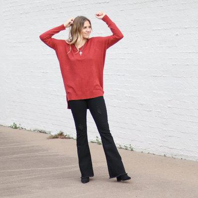 Punchy's Spice Lightweight V Neck Sweater
