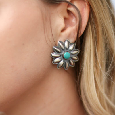 Punchy's Statement Flower Post Earring