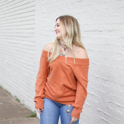 Punchy's Sunset Horizon Off the Shoulder Sweater