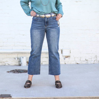 Punchy's Denim Wide Leg Cropped Jeans
