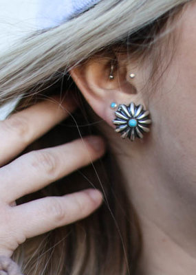 Punchy's 3/4 inch Concho Stud with Turquoise
