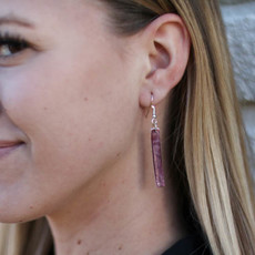 Punchy's Purple Spiny Oyster Slab Earring