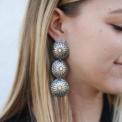 Punchy's Triple Estancia Earring