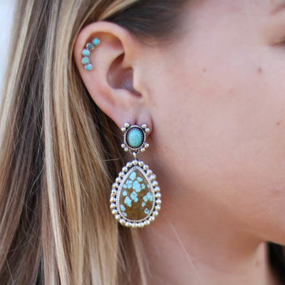 Punchy's #8 Turquoise Teardrop Earring