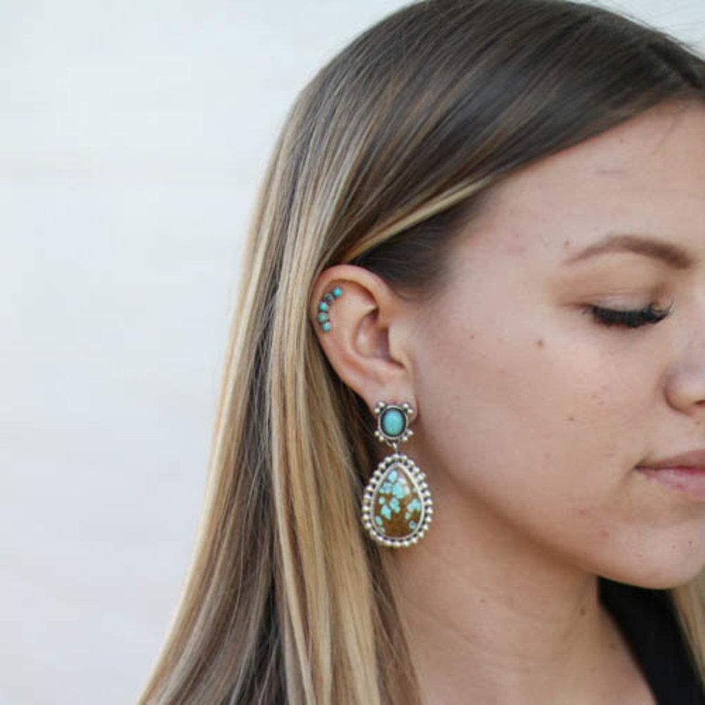 Punchy's #8 Turquoise Teardrop Earring