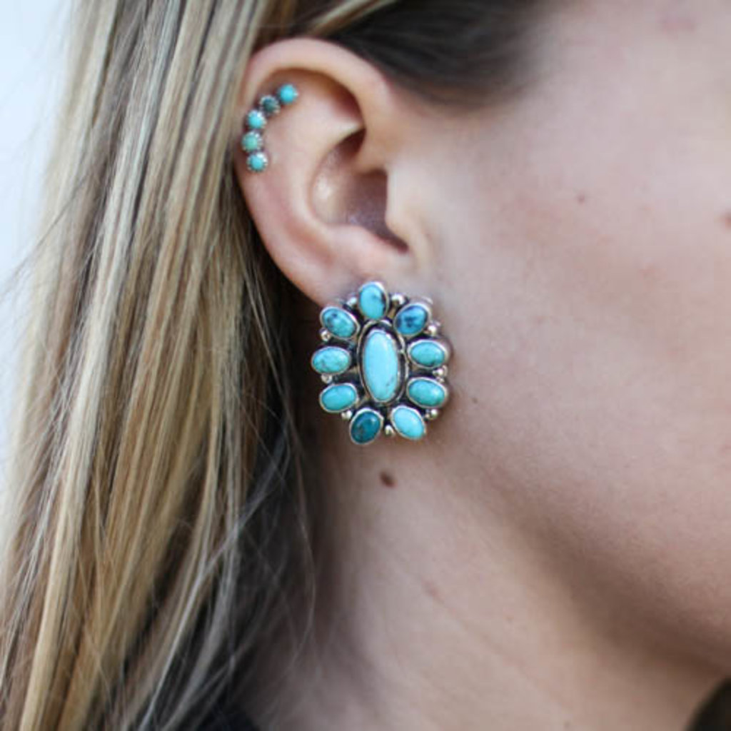 Punchy's The Blue Lagoon Cluster Earrings