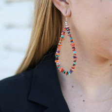 Punchy's Spiny Oyster and Heishe Mix Teardrop Earring