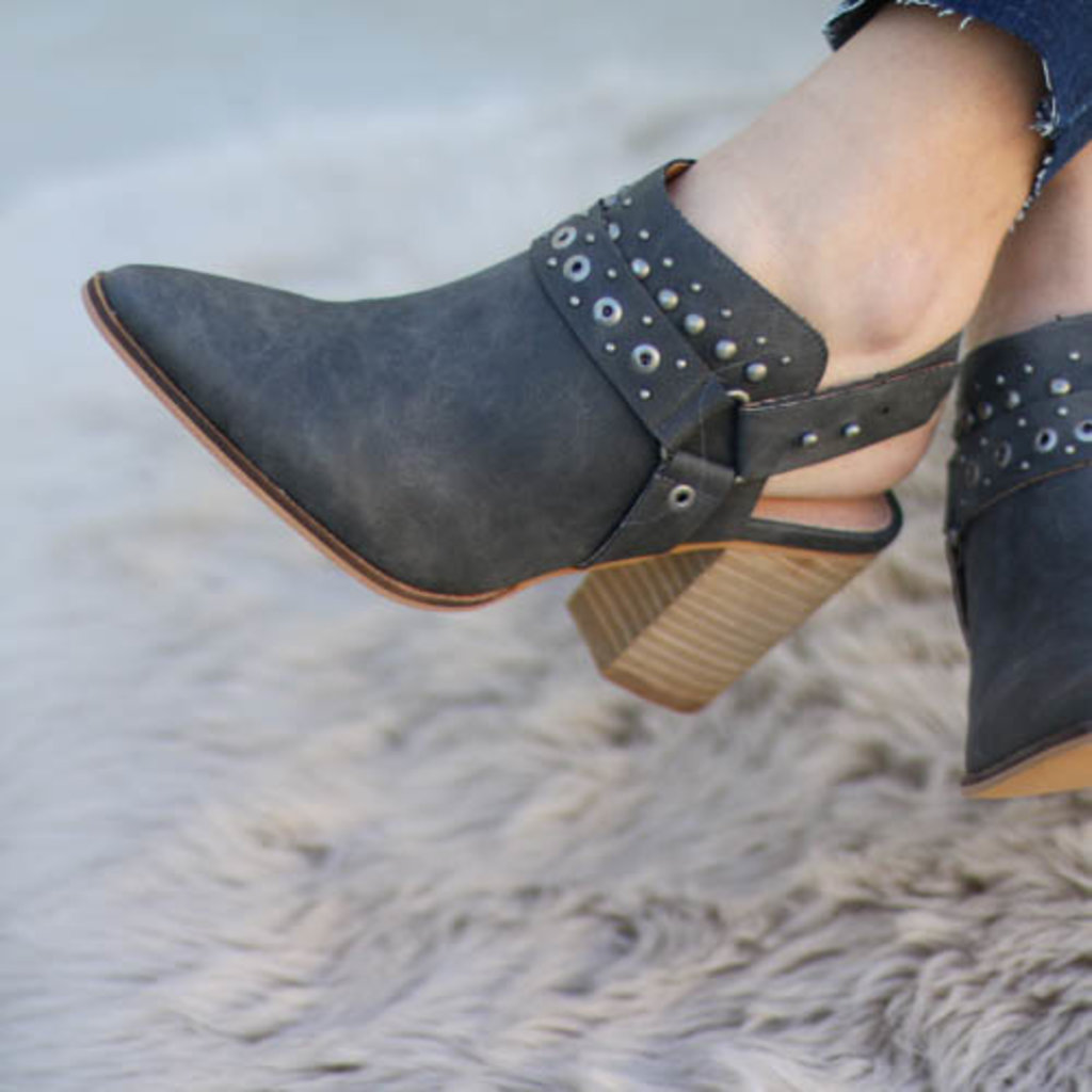 Punchy's Grey Boho Open Back Bootie