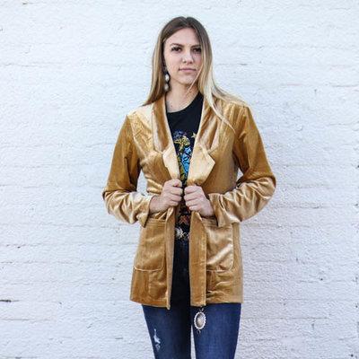 Punchy's Gold Velvet Blazer