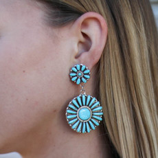 Punchy's Turquoise Round Flower Posts