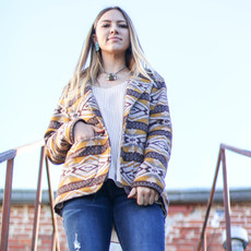 Punchy's Brown and Mustard Southwest Jacket