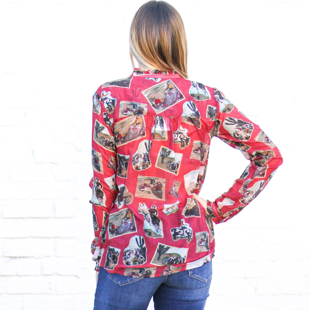 Punchy's Red Button Up Souvenir Shirt