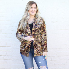 Punchy's Cheetah Velvet Blazer
