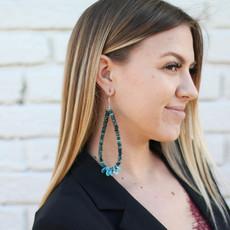 Punchy's Deep Blue Turquoise Teardrop Earrings